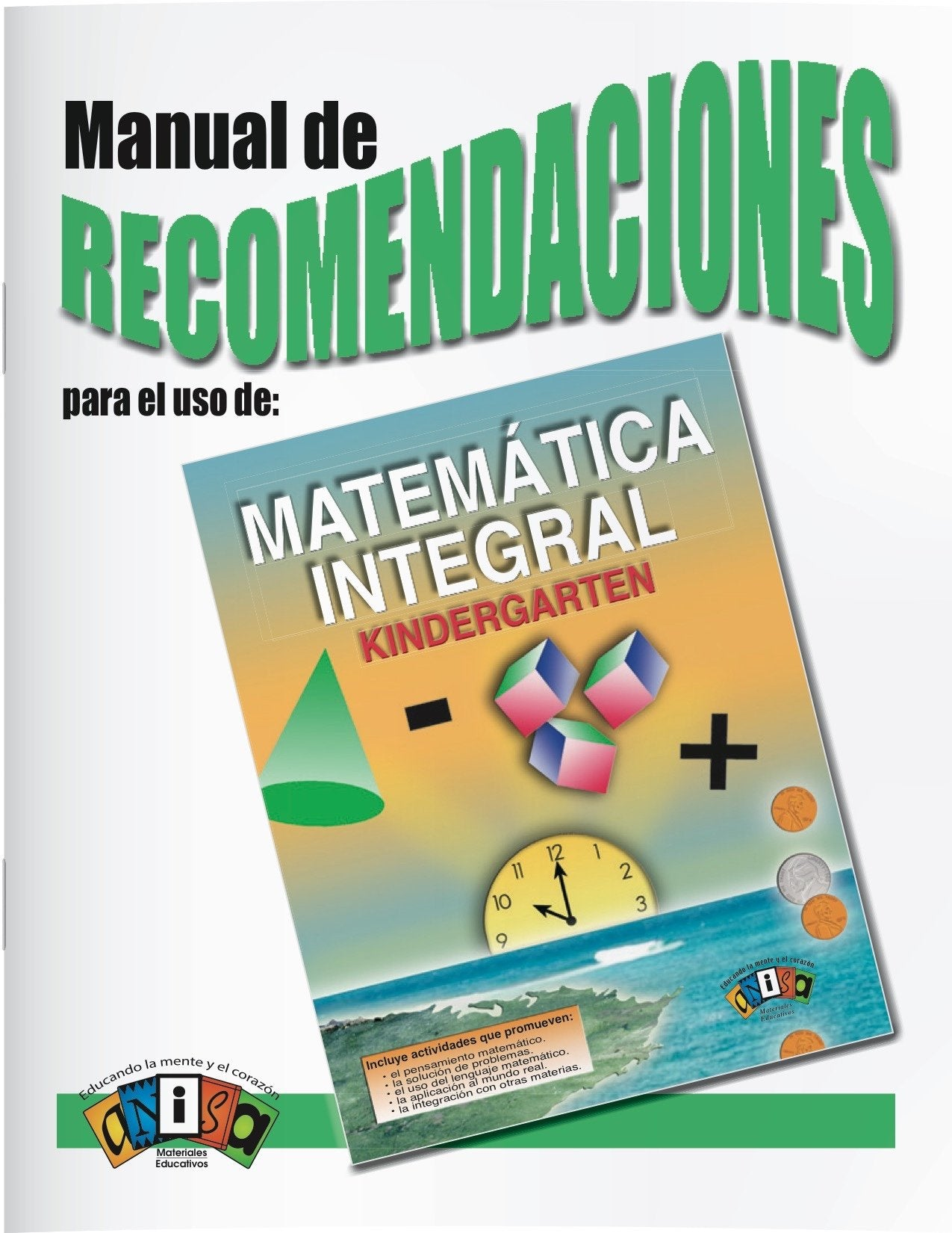 AM-L000 Matemática Integral - Kinder (Manual de recomendacione