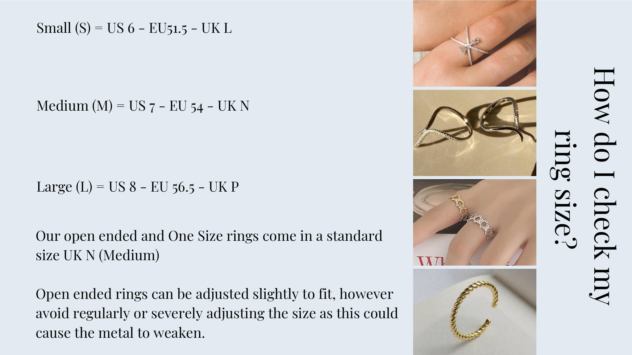 Bella Mayford Ring Size Guide