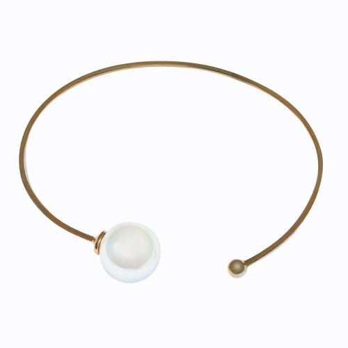 Freshwater Pearl Cuff, Gold