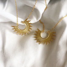 Half Sun Necklace, Gold