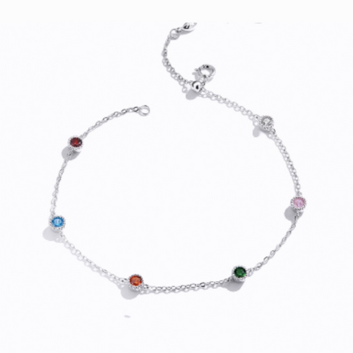 Summer Breeze Colourful Bracelet, Sterling Silver