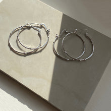 Medium Lux Hoop, Sterling Silver