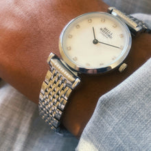 The Kensington. Silver Stainless Steel Strap And Bezel With Mother Of Pearl Dial