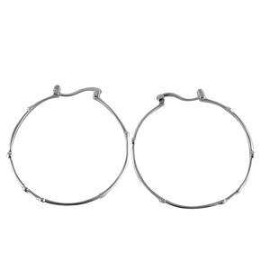 Medium Lux Hoop, Silver - Bella Mayford
