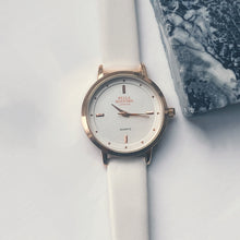 The Classic Lady. White Leather Strap