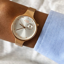 The Classic Chelsea. Rose Gold Dial, Rose Gold Steel Strap