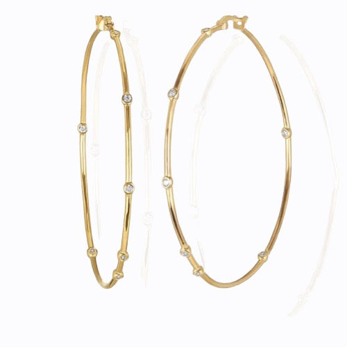 Medium Lux Hoop, 14ct Gold Plate