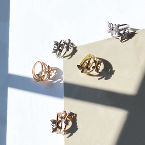 Double Butterfly Ring, Gold