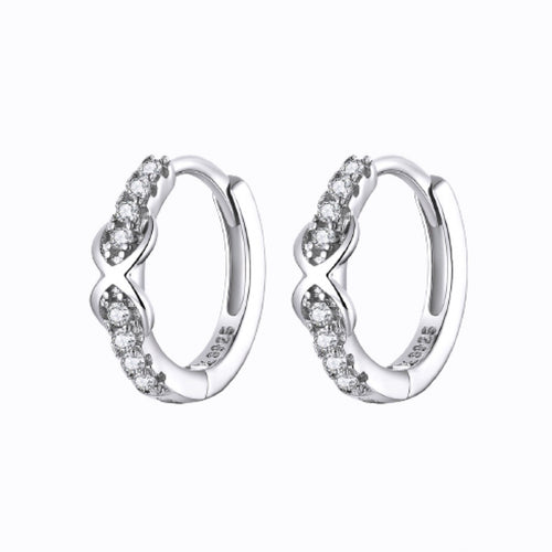 Infinity Mini Hoop Earrings, Sterling Silver