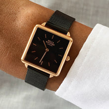 The Classic Canvas. Black Strap, Rose Gold Dial, Black Bezel