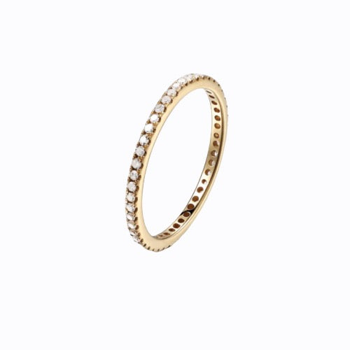 Pavé Band Ring, 14ct Gold Plate
