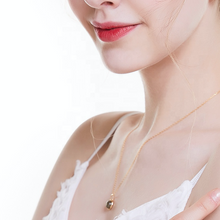 World Of Gemstone Pendant Necklace, 14K Gold Plate