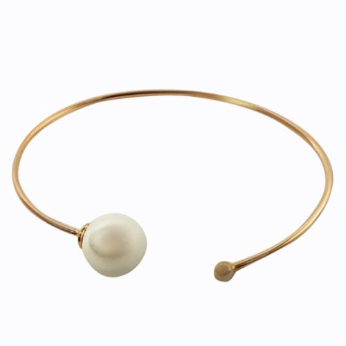Freshwater Pearl Cuff, Rose Gold