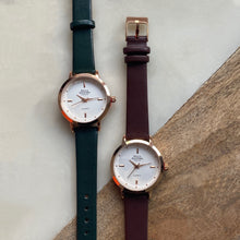 The Classic Lady. Brown Leather Strap
