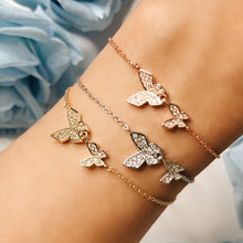 Double Butterfly Bracelet, Rose Gold - Bella Mayford