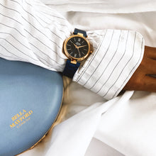 The Signature Solo, Rose Gold Dial and Blue Strap
