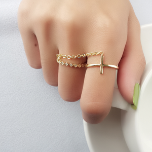 Double Open Ring, Gold