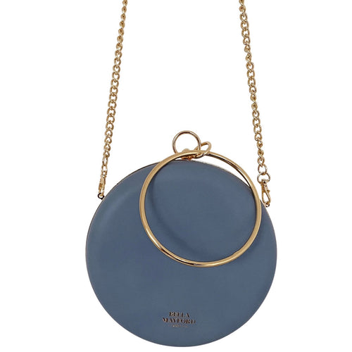 Iconic Queen Clutch , Blue