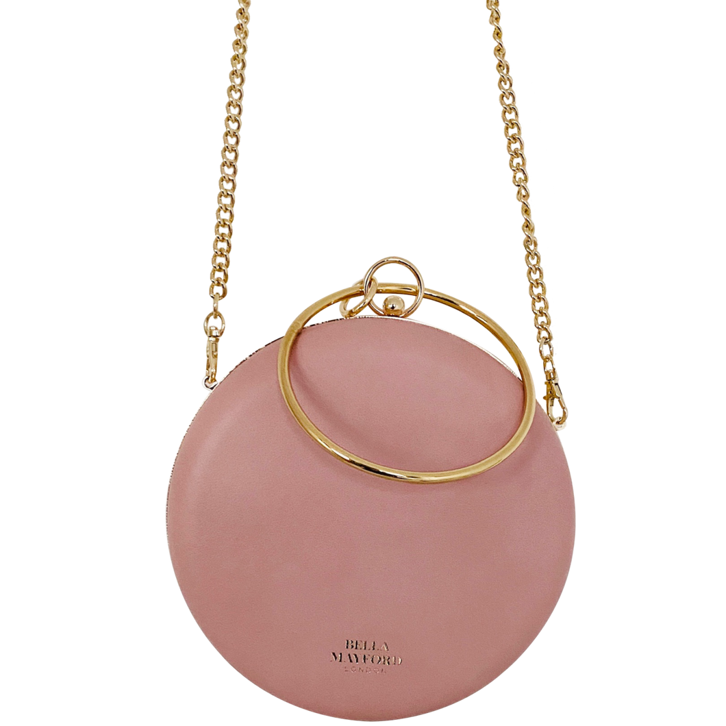 Iconic Queen Clutch, Nude Pink