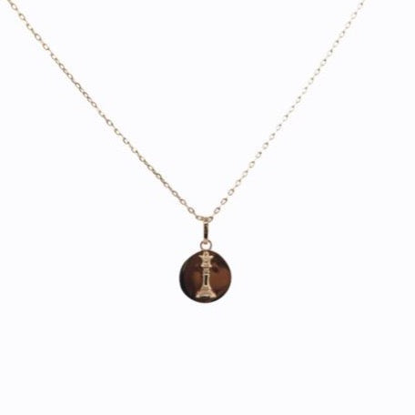 Signature Queen Coin Necklace, Rose Gold