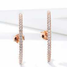 Curved Climber Earrings, Rose Gold