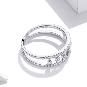 Eternity Ring, Sterling Silver