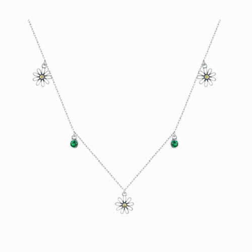 Daisy Chain Necklace, Sterling Silver
