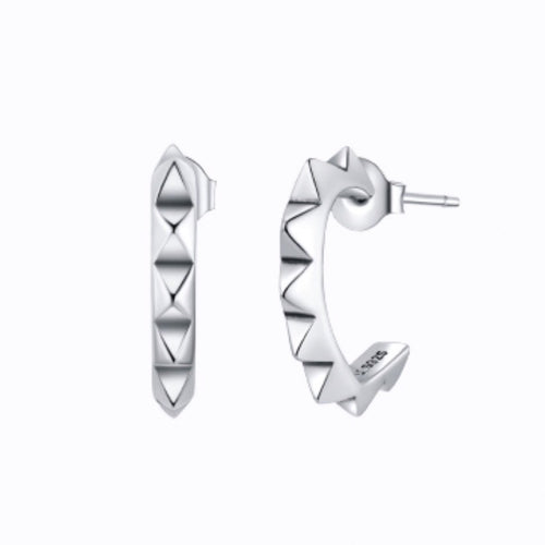 Small Spike Cuff Earrings, Sterling Silver