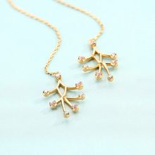 7 Point Drop Earrings, 14ct Gold Plate by bella mayford