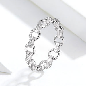 Queen Chain Ring, Sterling Silver