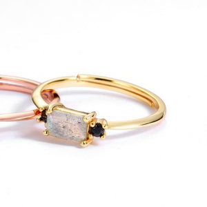 Grace And Stone Ring, 14ct Gold Plate