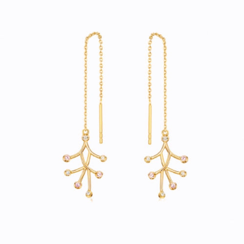 7 Point Drop Earrings, 14ct Gold Plate by bella mayfordv