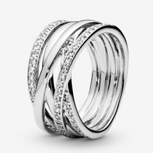 Layered Pavé Ring, Sterling Silver