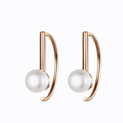 Lux Pearl Earrings, 14ct Gold Plate
