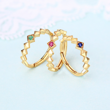 Eternity Stacking Ring With Blue Sapphire, 14ct Gold Plate