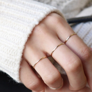 Simple Delicate Band Ring, Sterling Silver