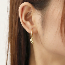 Half Moon Hoop Earrings, Gold