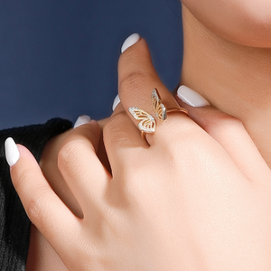 Butterfly Open Ring, Gold