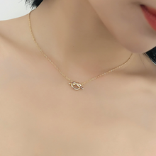 Love Knot Necklace, 14ct Gold Plate