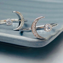 Sun + Moon Rings, Silver - Bella Mayford