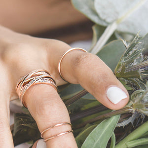 Simple Delicate Band Ring, Rose Gold