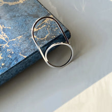 Double Finger Ring, Silver