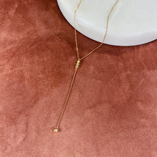 Pave Lariat Necklace, Rose Gold - Bella Mayford