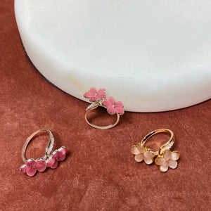 Double Flower Ring, Rose Gold - Bella Mayford