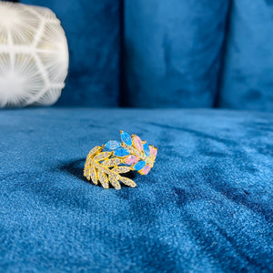 Colourful Garden Vine Ring, Gold - Bella Mayford
