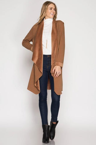 Audrey Camel Waterfall Jacket $49.99