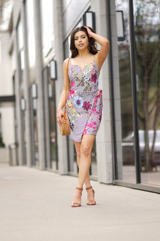 TAKE ME TO MAUI FLORAL WAIST TIE DRESS