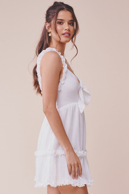 BABY DOLL MINI RUFFLE SUNDRESS