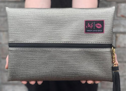 Makeup Junkie Bag - Subtle Silver