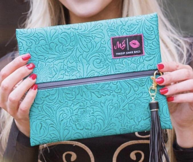 Makeup Junkie Bag - Turquoise Dream